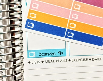 32 TV Show / TV Label Stickers! Perfect for your Erin Condren Life Planner, Filofax, Plum Paper & other planner or scrapbooking!