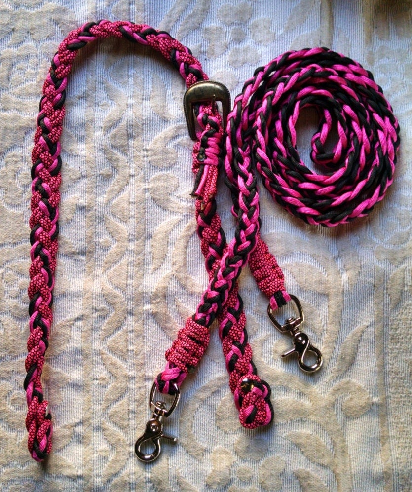 Horse tack paracord pony bridle w 7 39 barrel reins pony for Paracord horse bridle