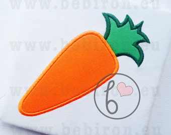 Easter Applique Design Carrot Machine Embroidery Pattern Instant Download