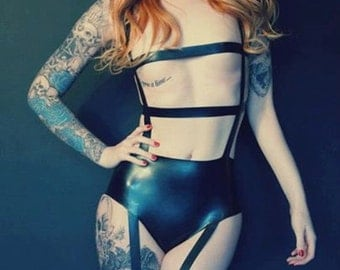 Caged Bodysuit - Latex