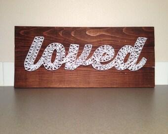 CUSTOM (3 plank) name or word yarn sign for home, nursery, office