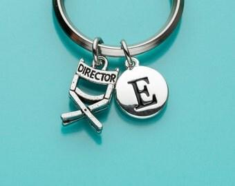 Director's Chair Keychain, Director's Chair Key Ring, Filmmaker, Initial Keychain, Personalized Keychain, Custom Keychain, Charm, 101