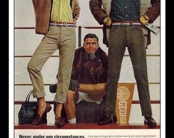"Vintage Print Ad August 1965 : Levi's Jeans Wall Art Decor 8.5"" x 11"" Print Advertisement"
