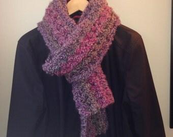 Chunky Crochet Scarf - Grey