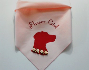 Dog Wedding Pet Bandana, Dog Flower Girl Outfit