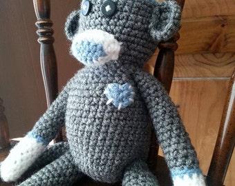 Crochet  Sock Monkey Doll