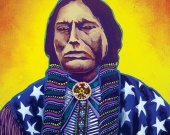"20"" X 16"" Canvas Print of Lynn Wilkerson's ""American Indian"""