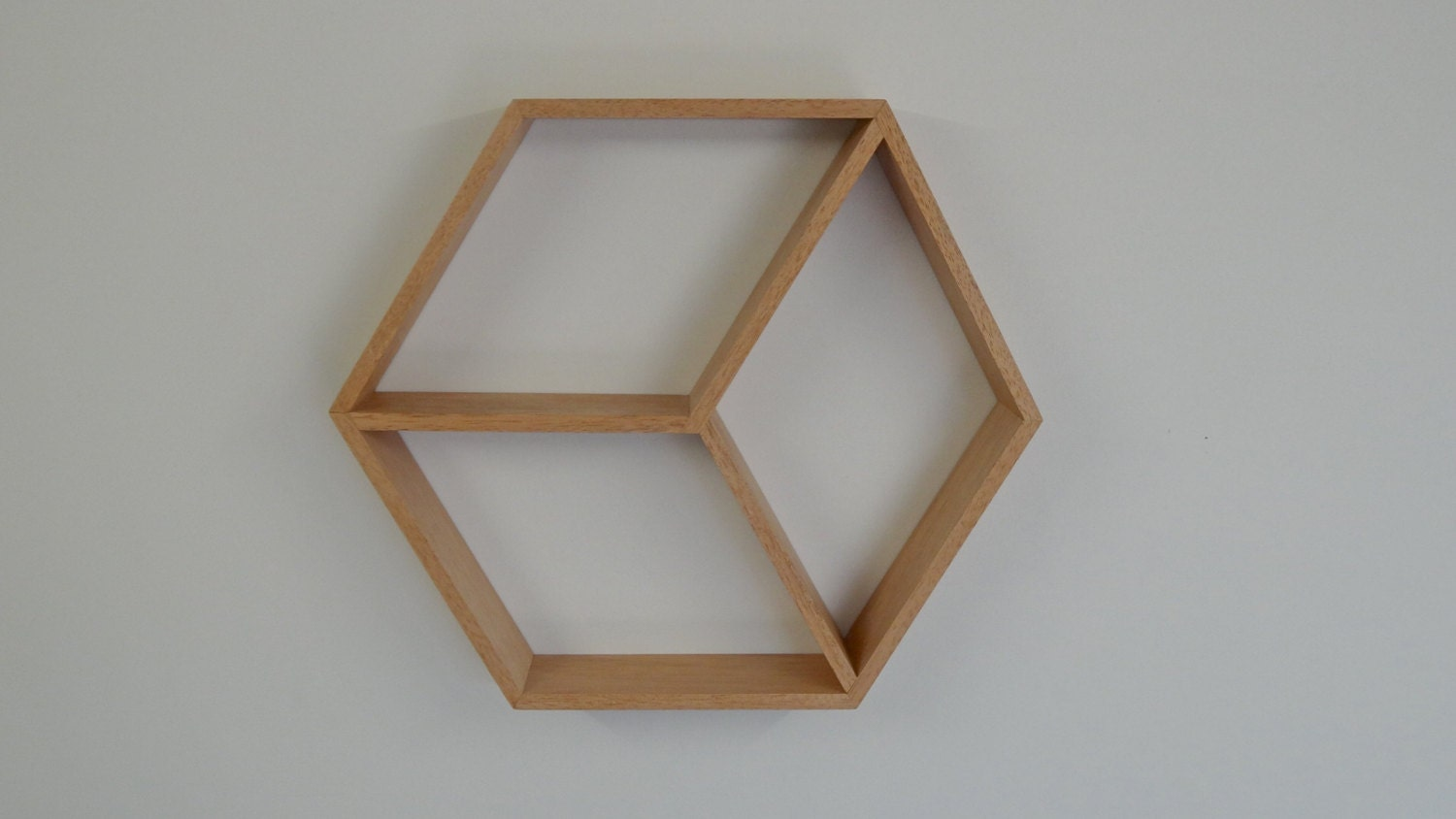 Hexagon Wooden Shelf // Geometric Shelf // by WoodBeDesignsByMoo