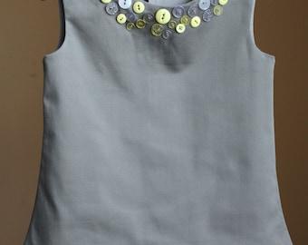 Girl's summer dress, Girls dress, Grey dress