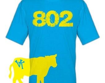 Vermont 802 VT Cow T-Shirt - vermont cow shirt - cow clothing - vermont clothing - vermont store - 802 store - 802 shop - vermont clothes