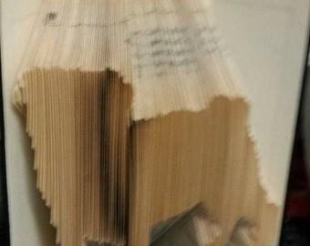 Pug book folding pattern, small dog, pug life, pug love, canine, pet, small pet, animal lover, mmf