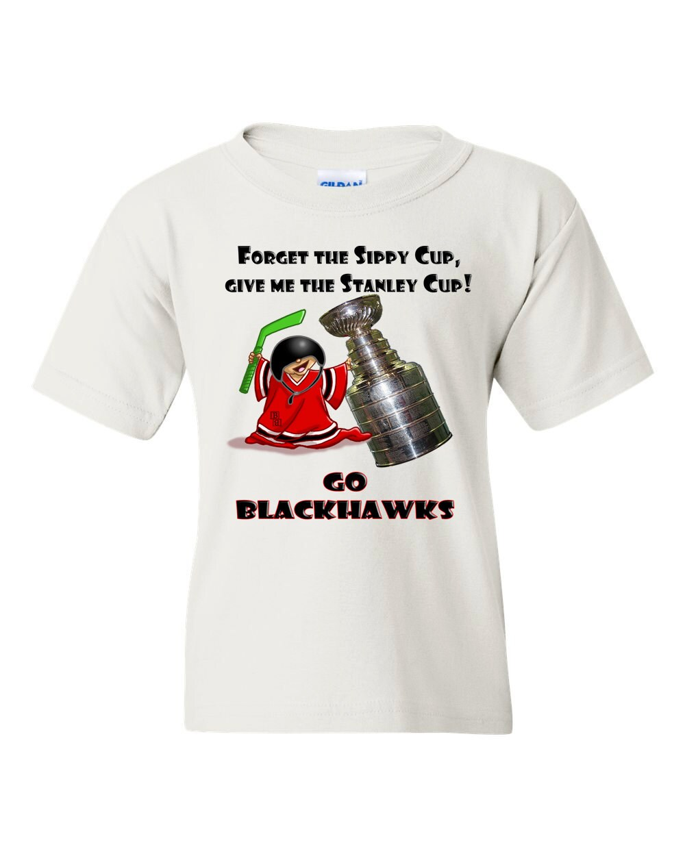 Chicago Blackhawks Stanley Cup Kids T Shirt Blackhawks Baby