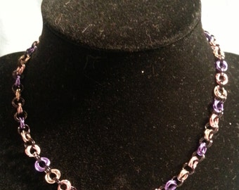 OOAK Flower Chainmaille Necklace