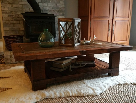 Old Seattle Reclaimed Wood Coffee Table By Urbansalvageworks