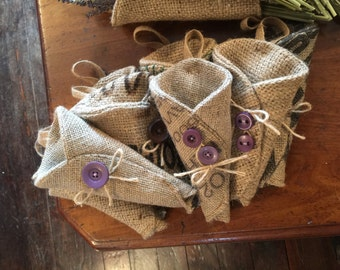 Hessian Pew Ends/Dried Flower Holder