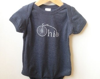 Ohio Bike- Infant Vintage Bodysuit