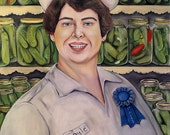 Nurse Gayle, 1st Place Canned Pickles In The Decatur County Fair 8.5 X 11 print by Caryn Cast