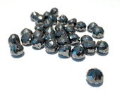 30 Faceted Hematite Onion briolettes