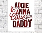 Personalized Father's Gift Birthday Present For Him Kids Love Their Daddy Father's Day Gift Wall Art For Men Dad From Daughter Dad From Son