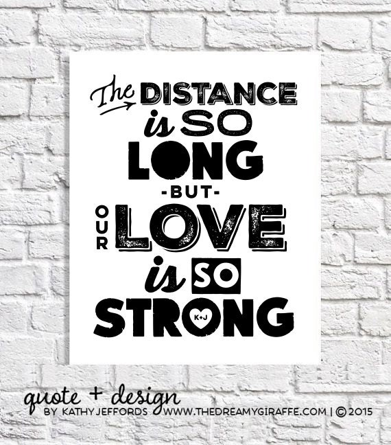 long distance quote art navy girlfriend gift for marine