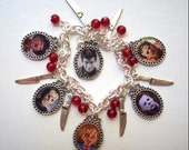 80s Retro HORROR MOVIE SLASHERS Charm Bracelet