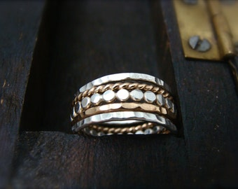 the gathering … mixed metal stacking rings