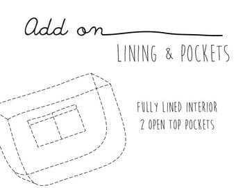 Add On - Lining & Internal Pockets for Unisex Messenger Bag