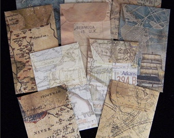 10 MAP Coin Envelopes 2.25 inches X  3.75 inches