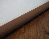 CANVAS draft guard in brown, black or natural , custom length door draft stopper, draft snake // natural or black canvas