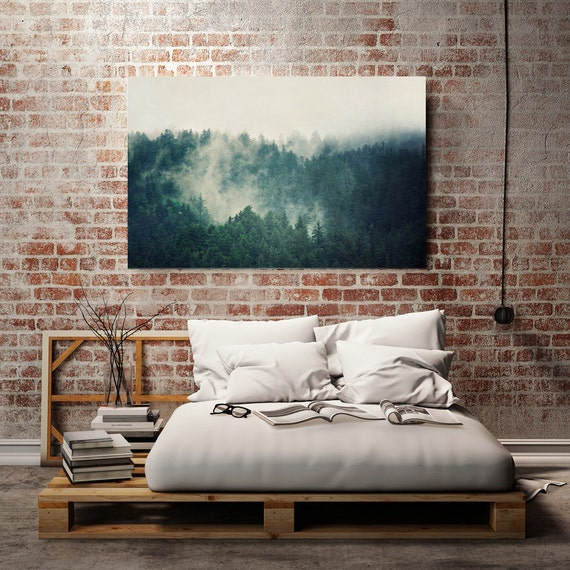 Wall art large canvas : Teal canvas art large print wall landscape
