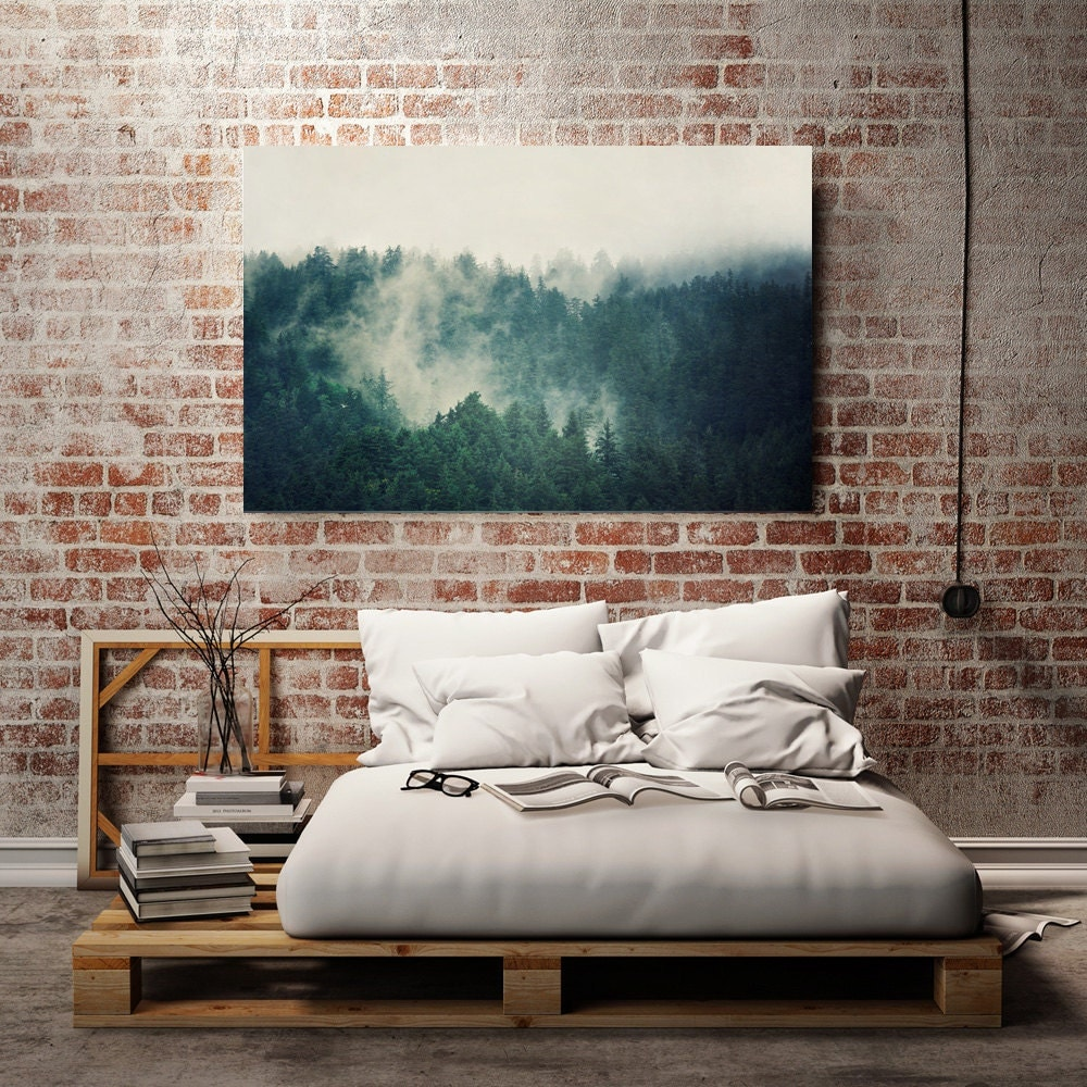 Teal Canvas Art Large Canvas Print Large Wall Art Landscape