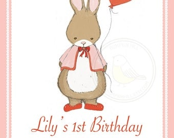 Valentines Day - Party Collection - Some Bunny Loves You - Invites, Gift Tags & Cupcake Toppers - Bunny Birthday Party