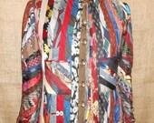 Jacket and Clutch Made of Vintage Men's Ties