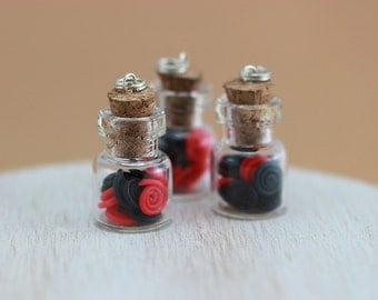 Liquorice Wheels Bottle Charm / Pendant