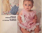 Infant Sundress, Jumper, Overalls, Shirt and Toy  - Vintage Pattern McCall's 2482 - All Sizes