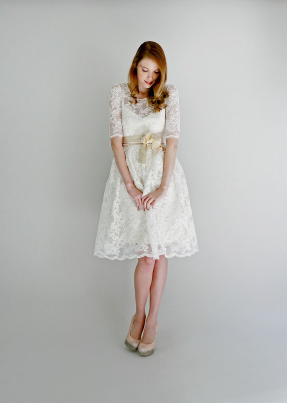 Price Drop--Ellie--2 Piece, Lace and Cotton Wedding Dress--ONLINE EXCLUSIVE--DISCONTINUED