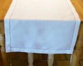 "Linens Church Altar Top Piece ""Fair Linen"" Embroidered Monogram Crosses 23 x84"