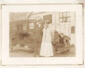 vintage photo Raymond & Tessie w Our Car 1926 Flapper era