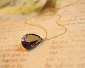 Mystic Quartz Faceted Gold Filled necklace