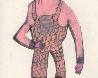 SALE! Quilted Downy Snowpants (original drawing, 2014)