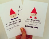 Pack of 6 Elf Christmas Cards! Inspired by Elf! The movie!