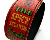 Cuff, Book Binding Bracelet: The Spice Islands Cookbook