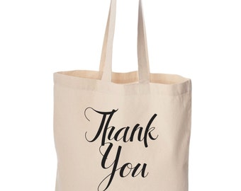 Wedding welcome bag Bulk order lot of  Personalized Thank you tote with bride and groom's names Wedding favors  arrows design