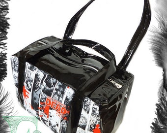 The Walking Dead Print & Pvc Handbag, Horror, Zombie, Psychobilly