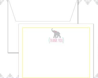 Elephant Baby Shower Stationery Set of 10 with envelopes