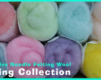 Spring Color Collection Felt Alive Needle Felting Wool 4 oz