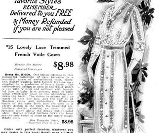 1910s Bedell Spring Sale E-Catalog- PDF Download Historical Fashion Costume