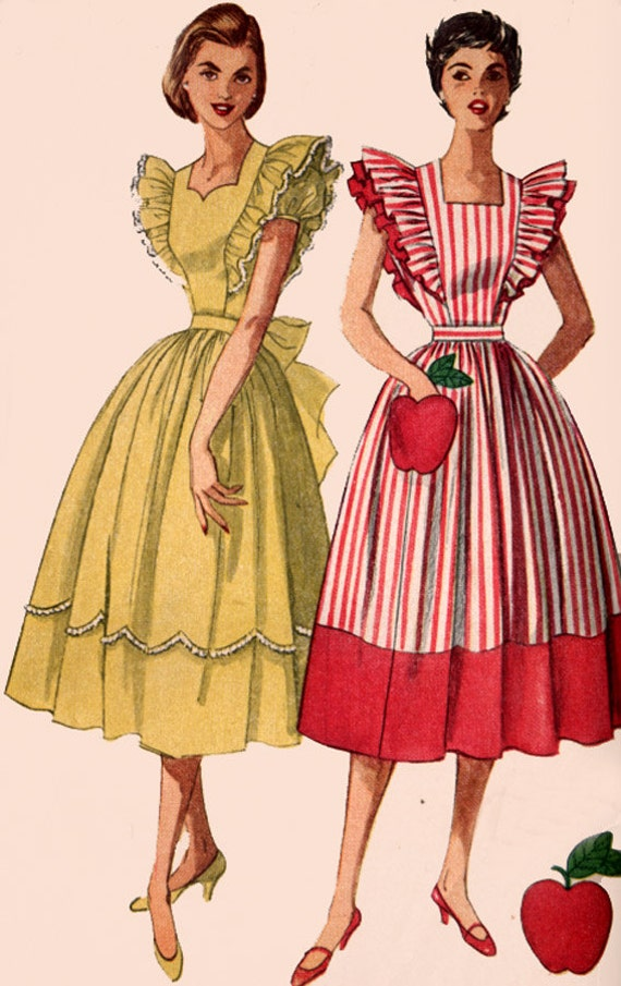 1950s Pinafore Dress With Sweetheart Neckline Simplicity 4138