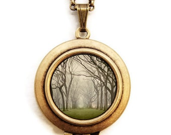 Central Park - Photo Locket of New York - Wearable Art Locket Necklace