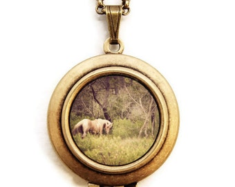 Horse Whisperer - Magical Horse Enchanted Forest Photo Locket Necklace